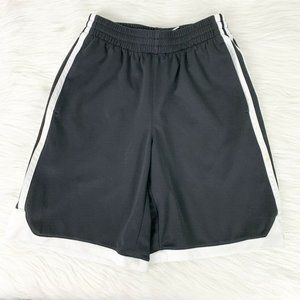Adidas Black Mesh Striped Side Performance Short